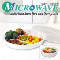 N11無煙炊具*五格式餐盤附微波蓋-廚房料理盤便當盒.保鮮膜拜拜.微波爐專用微波餐具.烹調迅速省時省錢.SYH-8045_圖片(3)