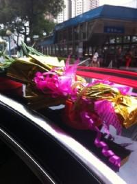 結婚禮車甘蔗架.竹子固定吸盤座 強力磁鐵車頂置物架* 結婚禮車出租專用_圖片(2)
