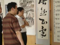朱為白在台個展地區藝文人士跨海觀賞_圖片(1)