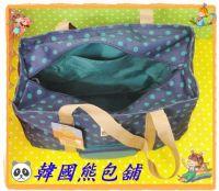 ☃韓國熊包舖☃【WingHouse】藍色莫莫小熊圓點手提單側肩背包_圖片(4)