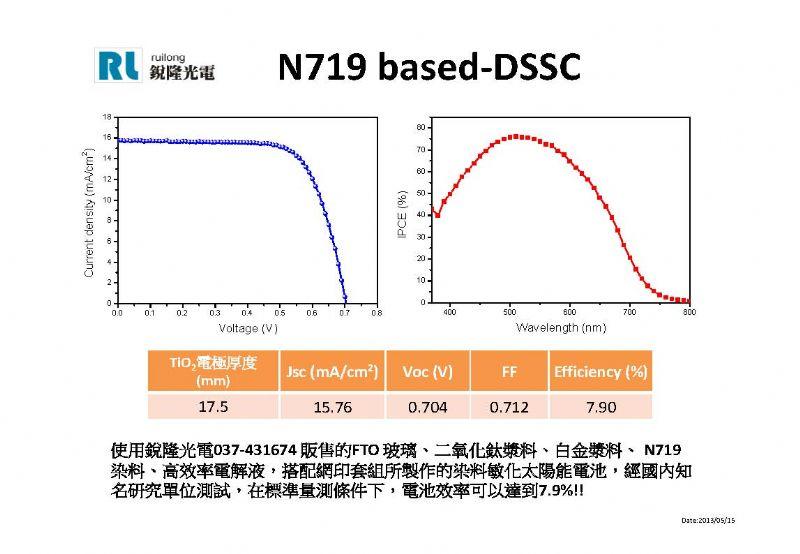 dssc染料敏化太阳能电池材料专家 锐隆光电037-431674 锐隆光电 037