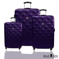 BEAR BOX 時尚香奈兒ABS霧面登機箱拉桿箱3件組_圖片(1)