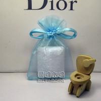 【愛禮布禮】 婚禮小物: 水藍色雪紗袋6x9cm~1個1.4元,10個14元,訂購單位1為10個_圖片(1)