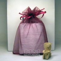 【愛禮布禮】 婚禮小物: 酒紅雪紗袋10x12cm,1個1.9元,10個19元_圖片(1)