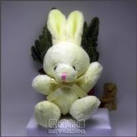【愛禮布禮】婚禮小物:12公分領巾兔(米色)20元_圖片(1)