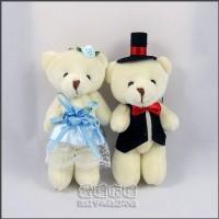 【愛禮布禮】婚禮小物:12公分情侶熊(新娘水藍色禮服)1對41元_圖片(1)
