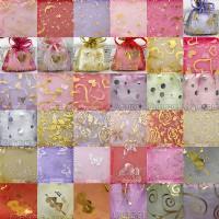 【愛禮布禮】婚禮小物:混色混花樣燙金紗袋7x9cm,1個1.6元,10個16元,訂購單位1為10個.隨機出貨_圖片(1)