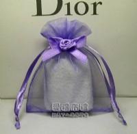 【愛禮布禮】婚禮小物:淡紫色緞帶花雪紗袋8x10cm,1個2.9元,10個29元_圖片(1)