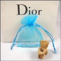 【愛禮布禮】婚禮小物:藏青色鑽點紗袋8x10cm,1個1.7元,10個17元_圖片(1)