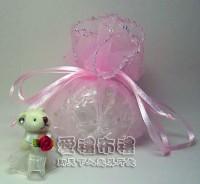 【愛禮布禮】婚禮小物:粉紅色鑽點圓形紗袋 @26cm,1個2.0元,10個20元_圖片(1)