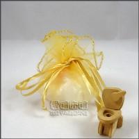 【愛禮布禮】婚禮小物:淡金色素色圓形紗袋 D26cm,1個1.9元,10個19元_圖片(1)