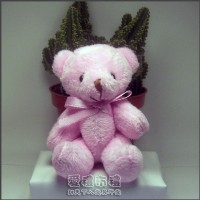 【愛禮布禮】婚禮小物: 12公分領巾熊(粉色)21元_圖片(1)