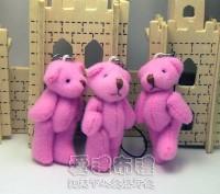 【愛禮布禮】婚禮小物:5公分單色裸熊(蓮色)1支9元_圖片(1)