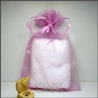 【愛禮布禮】婚禮小物:淡紫紅色雪紗袋10x15cm,1個2.1元,10個21元_圖片(1)
