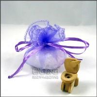 【愛禮布禮】婚禮小物:淡紫色素色圓形紗袋 D23cm,1個1.7元,10個17元_圖片(1)