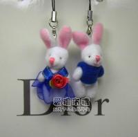 【愛禮布禮】婚禮小物:3.5公分情侶紗裙兔(1對)藍--婚禮小物(1對)16元_圖片(1)
