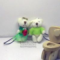 【愛禮布禮】婚禮小物:3.5公分水鑽情侶紗裙熊粉綠1對/18元_圖片(1)