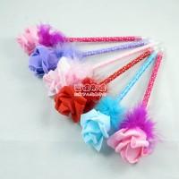 【愛禮布禮】婚禮小物:玫瑰花羽毛圓珠筆/102元.售價為一打12支的價格_圖片(1)