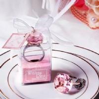 【愛禮布禮】婚禮小物:鑽石鑰匙圈禮盒/15元(紅藍白粉紫5色混批)_圖片(1)