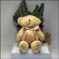 【愛禮布禮】婚禮小物:12公分領巾熊(棕色)21元_圖片(1)