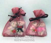 【愛禮布禮】婚禮小物:酒紅色鑽點紗袋6x8cm,1個1.4元,10個14元_圖片(1)
