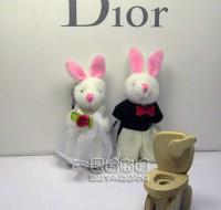 【愛禮布禮】婚禮小物:5公分婚紗情侶兔(1對)--婚禮小物(1對)23元_圖片(1)