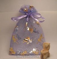 【愛禮布禮】婚禮小物:淡紫色串串心燙金雪紗袋12x17cm,1個2.6元,10個26元_圖片(1)