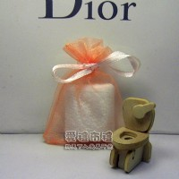 【愛禮布禮】婚禮小物:粉橘色雪紗袋7x9cm~1個1.5元,10個15元_圖片(1)