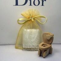 【愛禮布禮】婚禮小物:淡金色雪紗袋6x9cm~1個1.4元,10個14元_圖片(1)