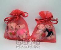 【愛禮布禮】婚禮小物:大紅色鑽點紗袋6x8cm,1個1.4元,10個14元_圖片(1)