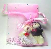 【愛禮布禮】婚禮小物:粉紅色鑽點紗袋8x10cm,1個1.7元,10個17元_圖片(1)