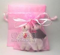 【愛禮布禮】婚禮小物:粉紅雪紗袋10x12cm,1個1.9元,10個19元_圖片(1)