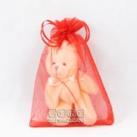 【愛禮布禮】婚禮小物:大紅色雪紗袋10x15cm,1個2.1元,10個21元_圖片(1)