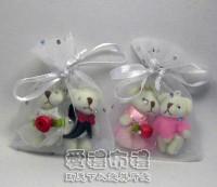 【愛禮布禮】婚禮小物:白色鑽點紗袋6x8cm,1個1.4元,10個14元_圖片(1)