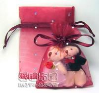 【愛禮布禮】婚禮小物:酒紅色鑽點紗袋7x9cm,1個1.5元,10個15元_圖片(1)