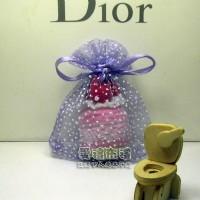 【愛禮布禮】婚禮小物:淡紫色雪點紗袋7x9cm,1個1.5元,10個15元_圖片(1)