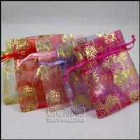 【愛禮布禮】婚禮小物:新郎新娘燙金雪紗袋7x9cm,1個1.5元,10個15元,多色可選_圖片(1)