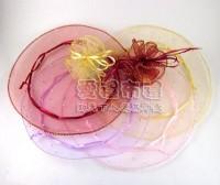 【愛禮布禮】婚禮小物:鑽點圓形紗袋 @23cm,1個1.8元,10個18元,多色可選_圖片(1)