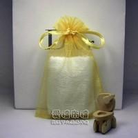 【愛禮布禮】婚禮小物:淡金色雪紗袋10x15cm,1個2.1元,10個21元_圖片(1)