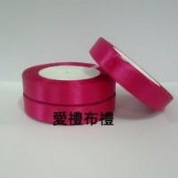 【愛禮布禮】婚禮小物:桃紅色,8分素面單面緞帶,1捲25碼/26元_圖片(1)