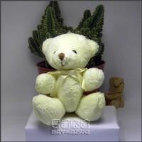 【愛禮布禮】婚禮小物:12公分領巾熊(米色)21元_圖片(1)