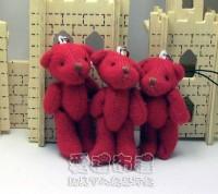 【愛禮布禮】婚禮小物:5公分單色裸熊(紅色)1支9元_圖片(1)