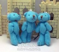 【愛禮布禮】婚禮小物:5公分單色裸熊(水藍色)1支9元_圖片(1)