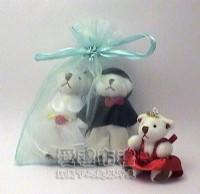 【愛禮布禮】婚禮小物:水藍色雪紗袋10x12cm,1個1.9元,10個19元_圖片(1)