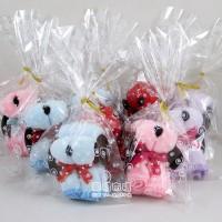 【愛禮布禮】婚禮小物:小狗造形毛巾OPP袋裝/11元(隨機出貨不挑色)_圖片(1)
