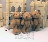 【愛禮布禮】婚禮小物:5公分單色裸熊(棕色)1支9元_圖片(1)