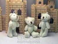 【愛禮布禮】婚禮小物:5公分單色裸熊(白色)1支9元_圖片(1)