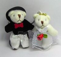 【愛禮布禮】婚禮小物:5公分水鑽婚紗熊(1對)25元_圖片(1)