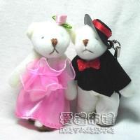 【愛禮布禮】婚禮小物:7公分婚紗熊(粉色1對)1對/28元_圖片(1)