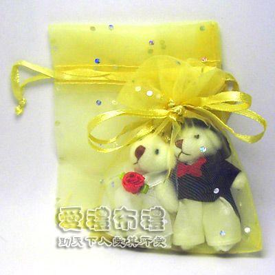 【愛禮布禮】婚禮小物:淡金色鑽點紗袋8x10cm,1個1.6元起 - 20141219140734-969520998.jpg(圖)